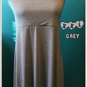 LuLaRoe XXL Solid Grey Maxi Skirt